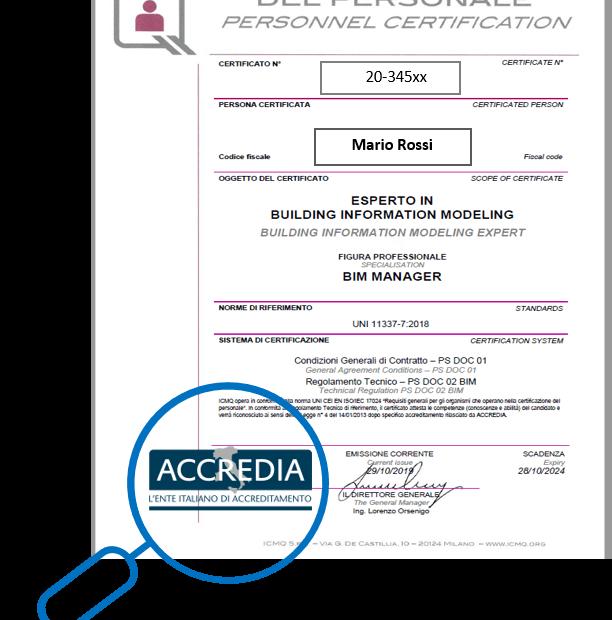Certificati BIM Accredia